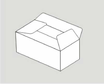 立体长方形手绘